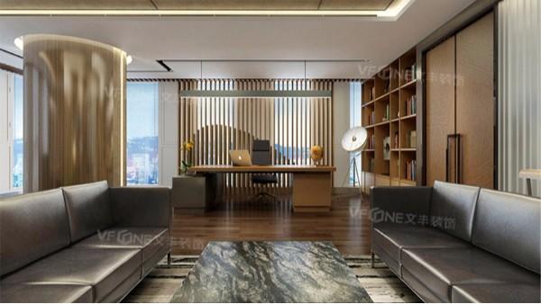 深圳写字楼设计公司—三点装好董事长办公室