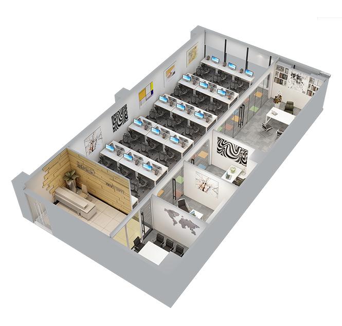办公室快速装修,一站式办公室装修,一站式快装