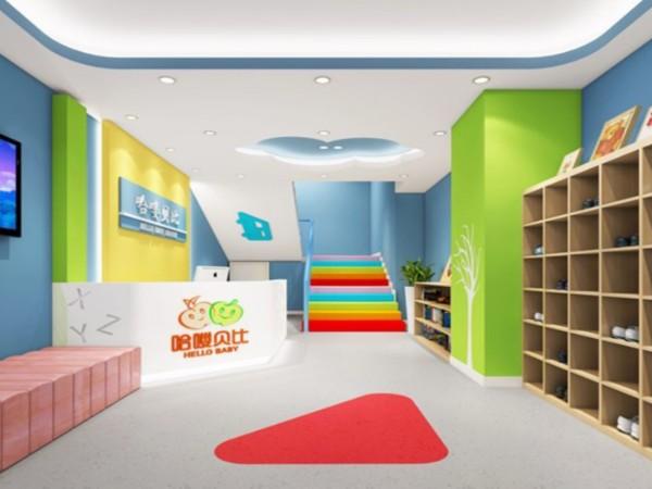 深圳教育机构装修设计, 早教中心装修效果图, 教育机构装饰设计