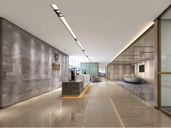 深圳办公室前厅装修效果图