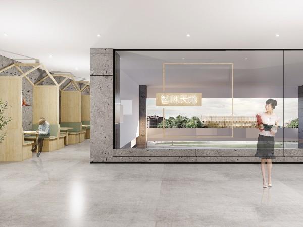 创客空间装修效果图,办公室设计装修, 写字楼装修, 办公室装饰设计