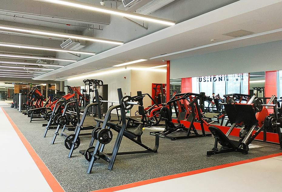 健身房装修实景图