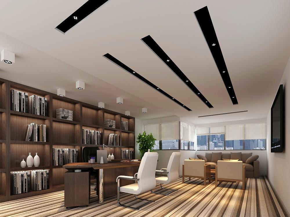 深圳科技型总经理办公室装修设计效果图